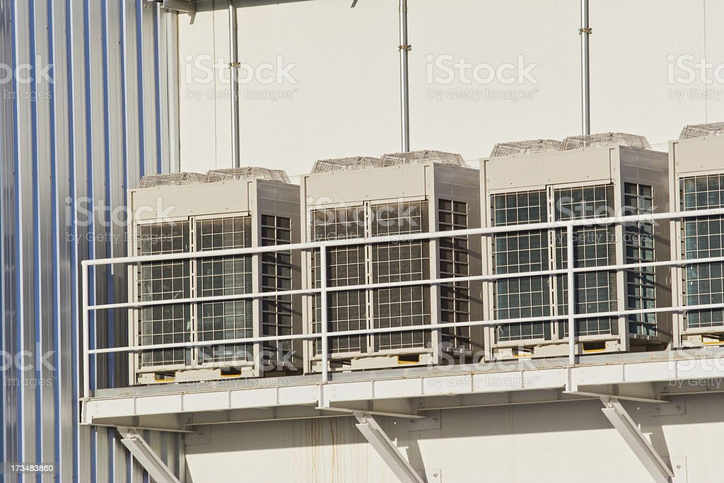 Row of air compressor royalty-free stock photo