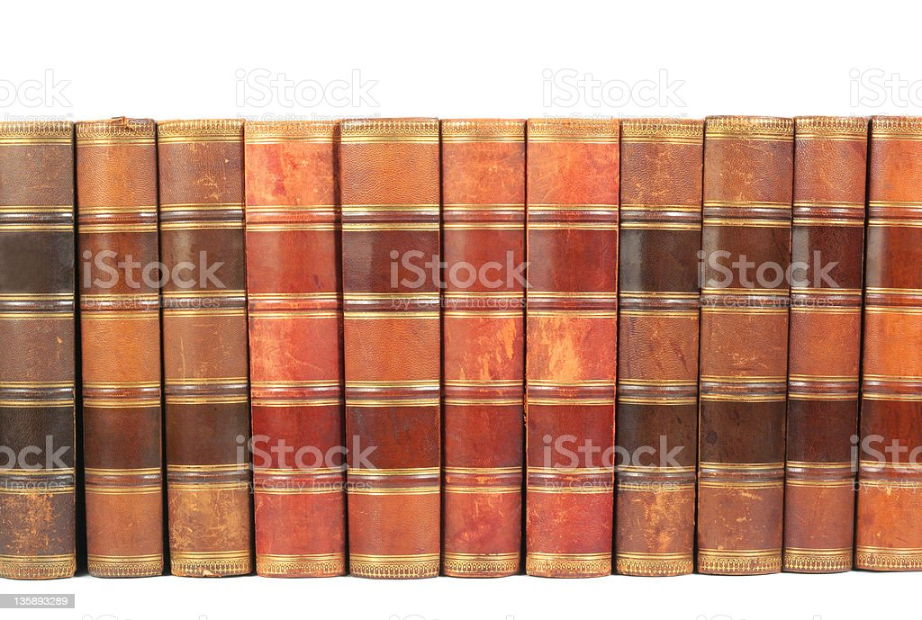 Row of Antique Books royalty-free stock photo
