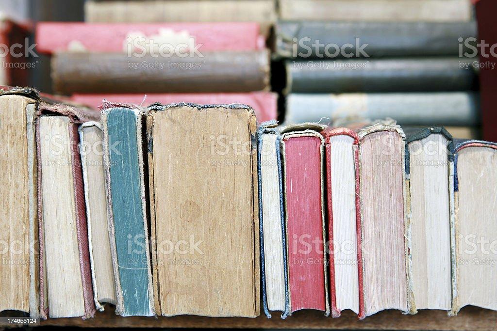 Row of Antique Books stock photo