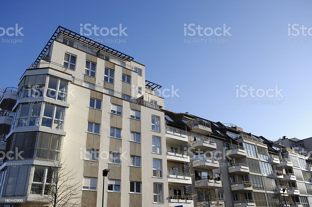 Row of apartment houses royalty-free stock photo