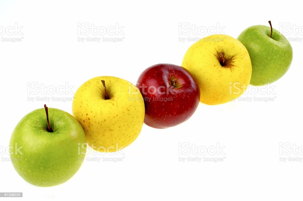Row of Apples royalty-free stock photo
