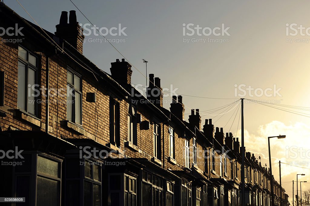 Row of Attached Housing stock photo