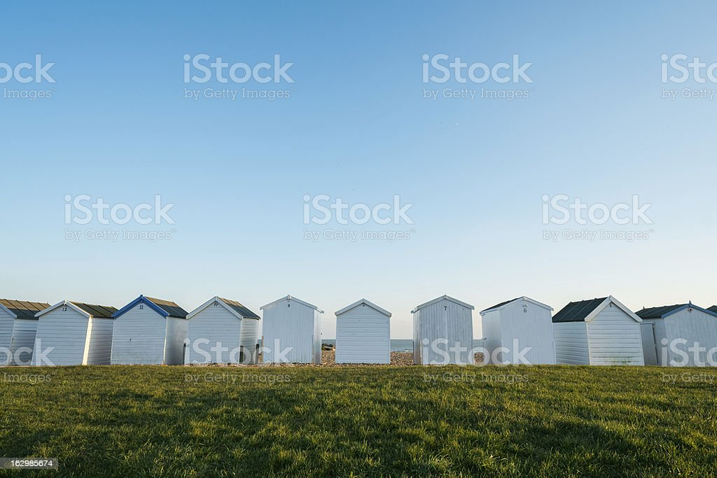 Row of Beach Huts royalty-free stock photo