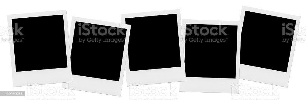 Row Of Blank Photo Frames. stock photo