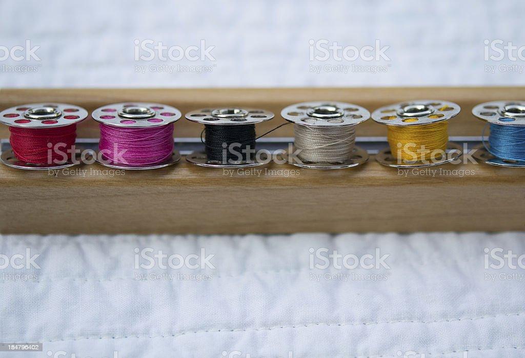 Row of Bobbins stock photo