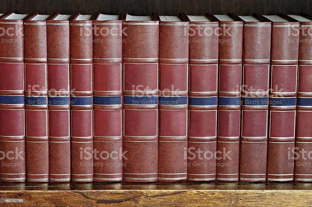 row of books on a shelf royalty-free stock photo