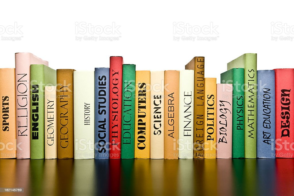 Row of Books royalty-free stock photo