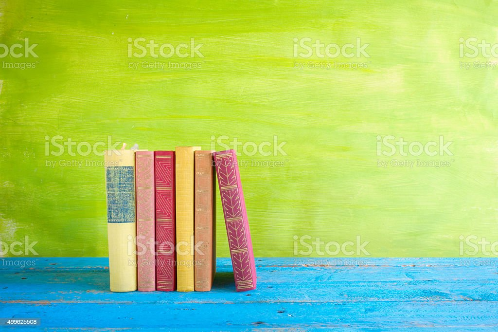 row of books, stock photo