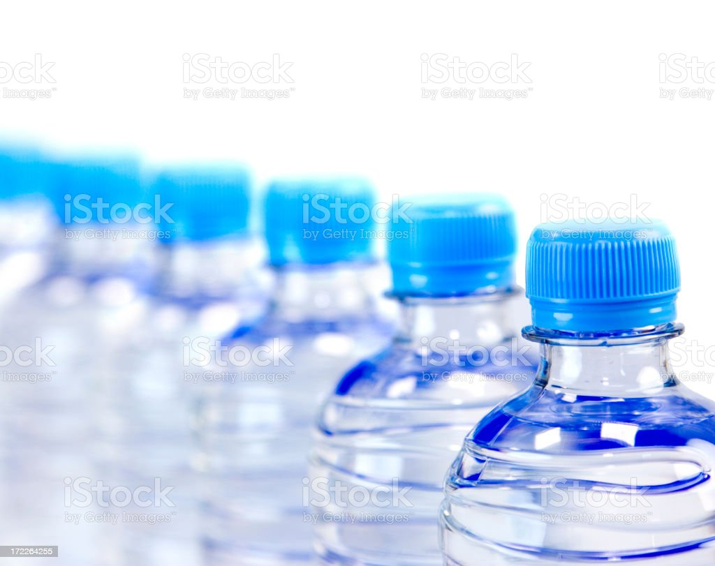 Row of Bottled Water royalty-free stock photo