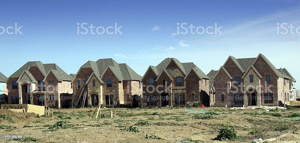 Row of brand new Houses royalty-free stock photo