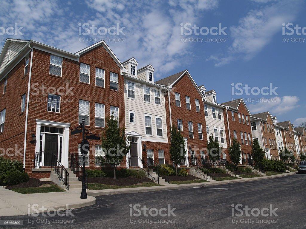 Row of Brick Condos royalty-free stock photo