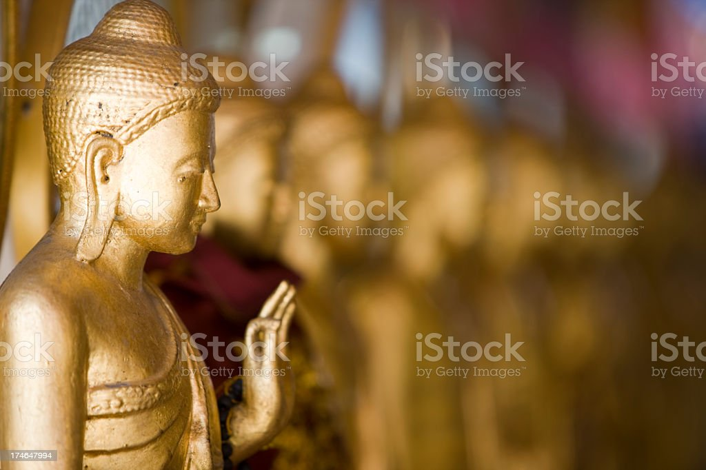 Row of Buddha images. royalty-free stock photo