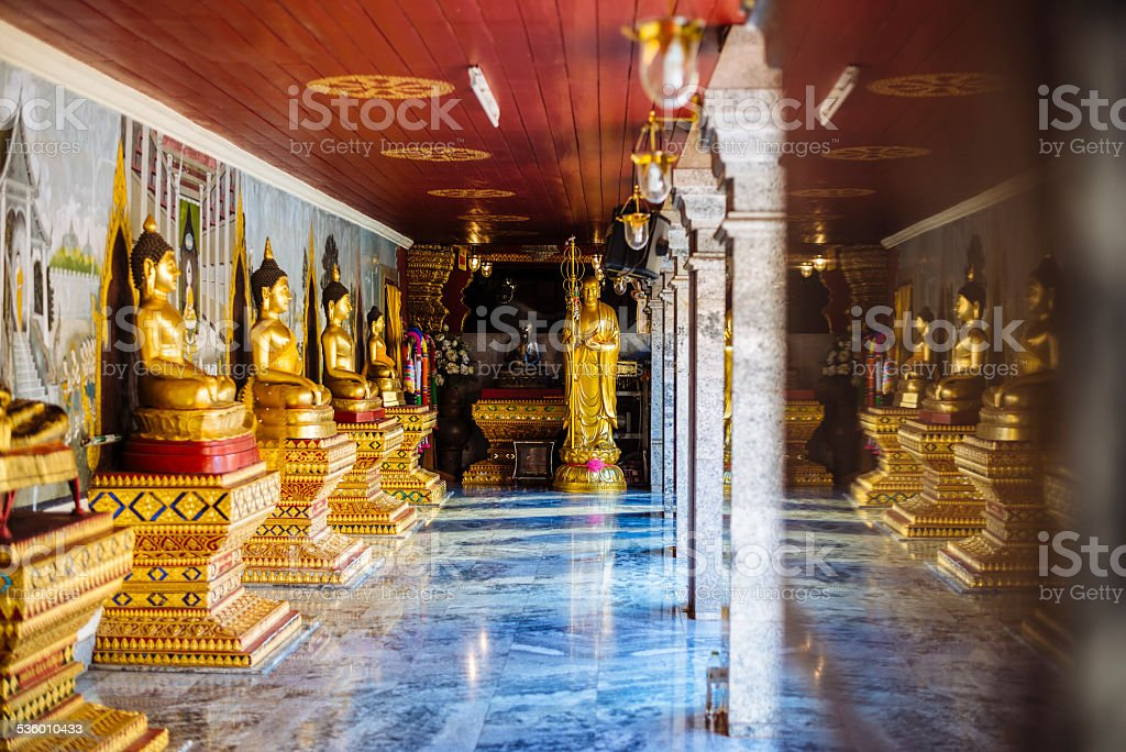 Row of Buddha Statues. stock photo