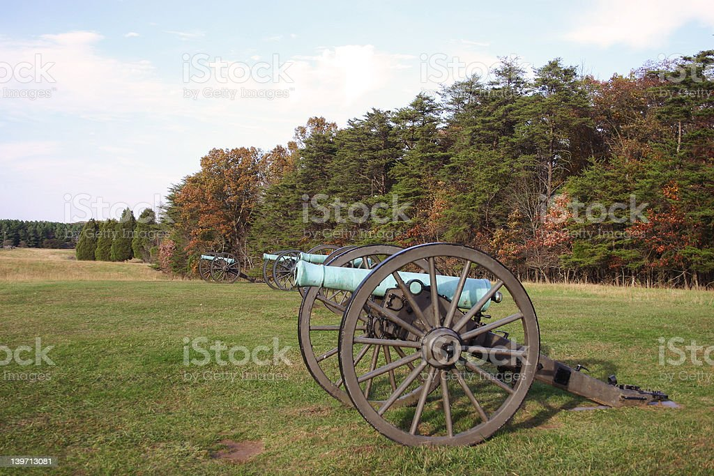 Row of Cannons royalty-free stock photo