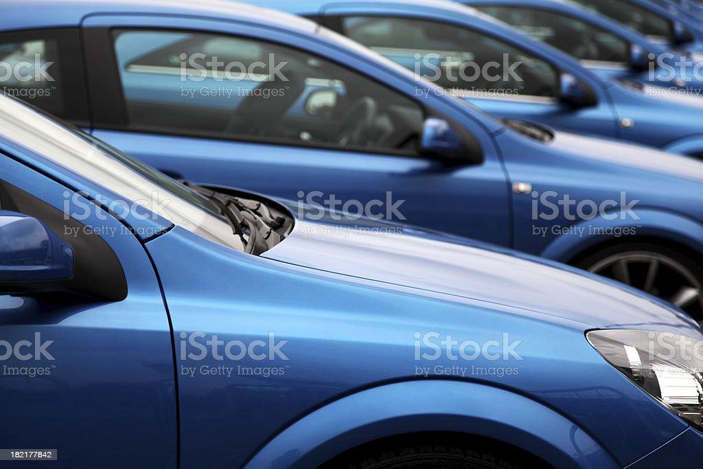Row of cars royalty-free stock photo