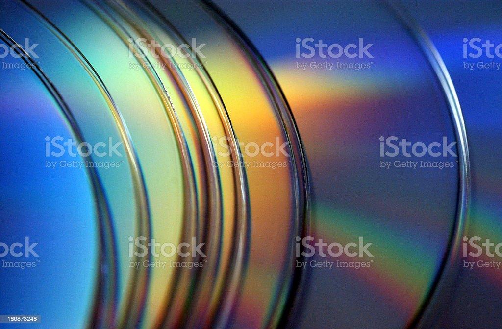 Row of CD ROM discs royalty-free stock photo