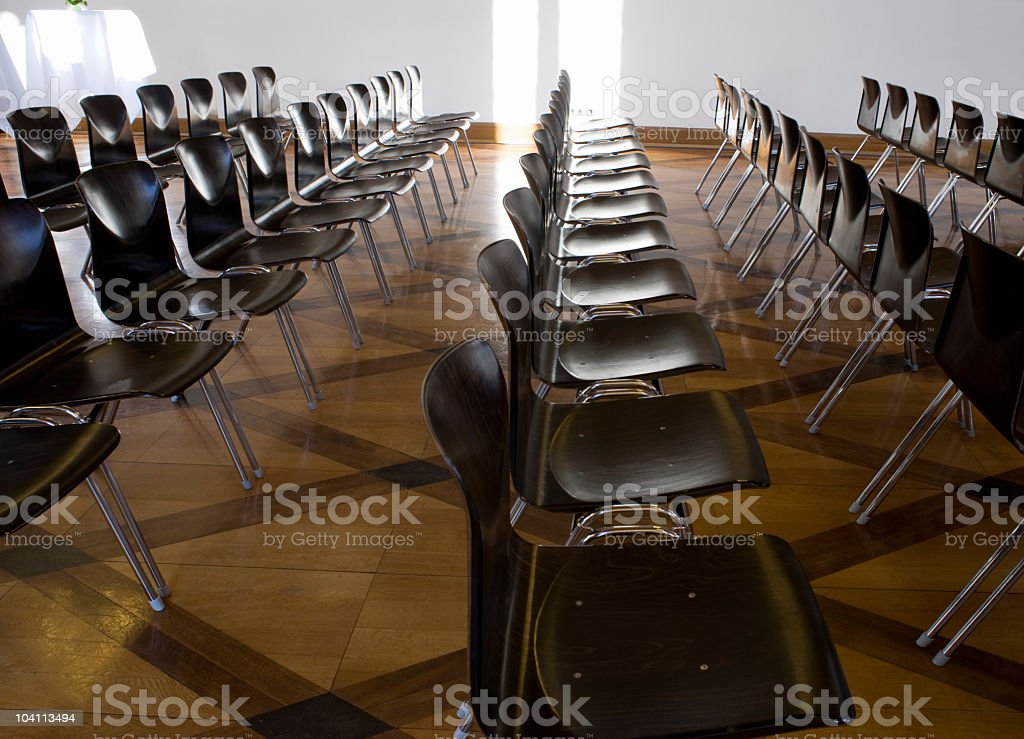 Fila di sedie foto stock royalty-free
