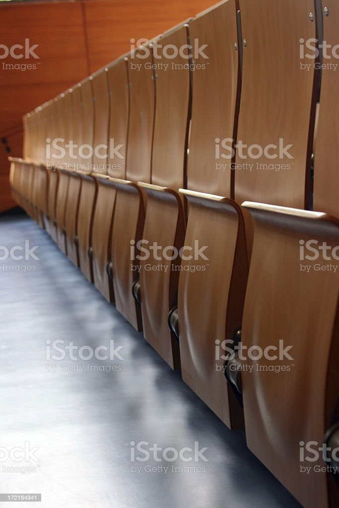 row of chairs royalty-free stock photo