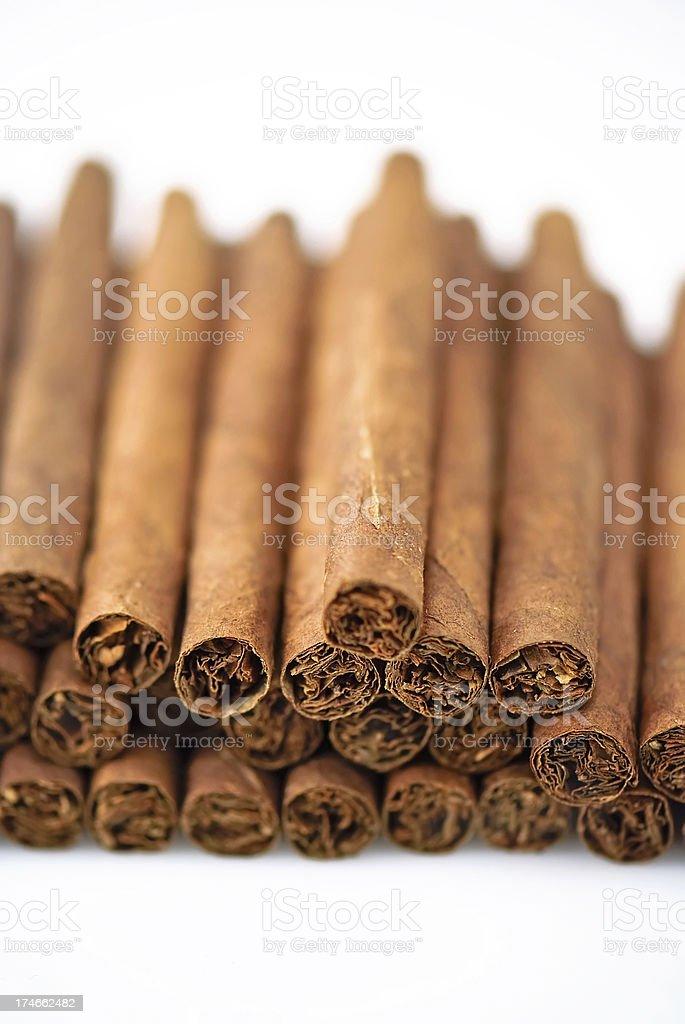row of cigars stock photo