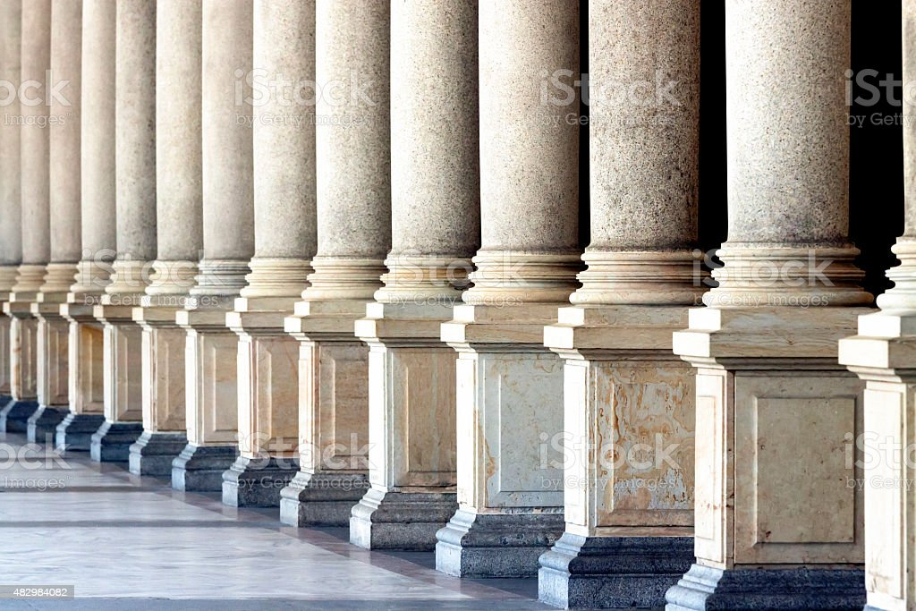 Row of classical columns stock photo