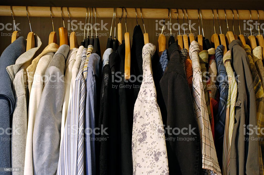 Row of clothes stock photo