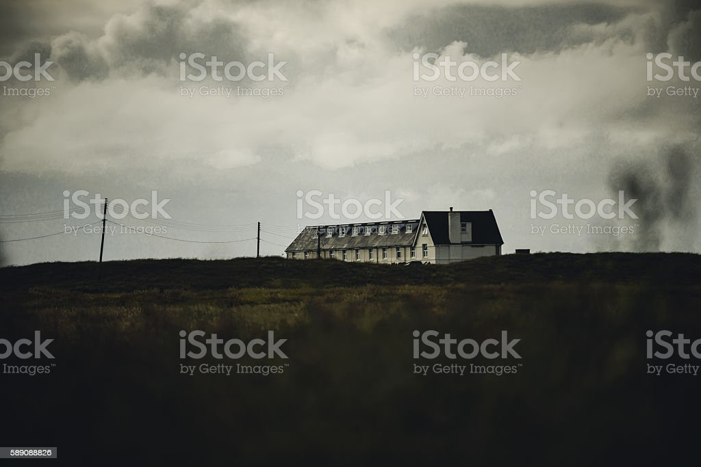 Row of Coastguard cottages stock photo