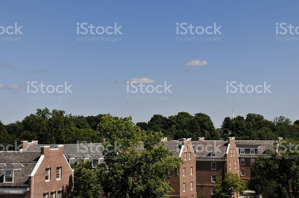 College Dorm Row stock photo
