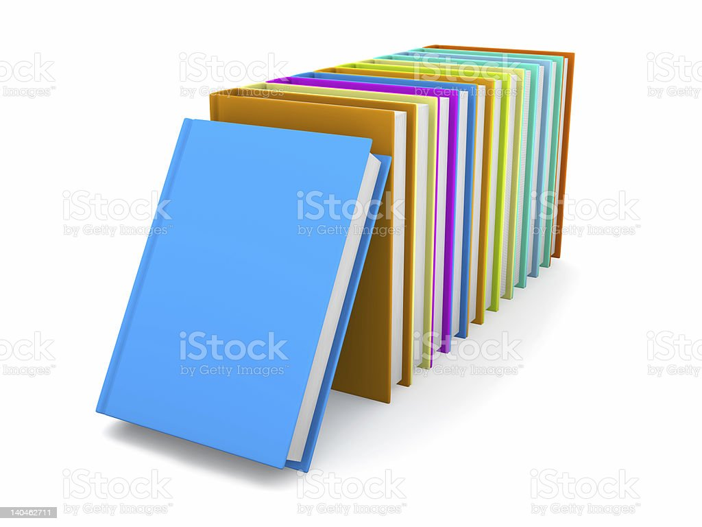 Row of colored Books royalty-free stock photo