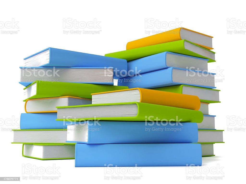 Rangée de livres colorés isolé sur blanc photo libre de droits