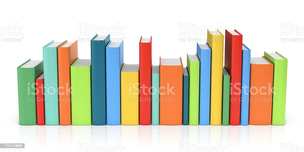 Row of Colorful Books royalty-free stock photo