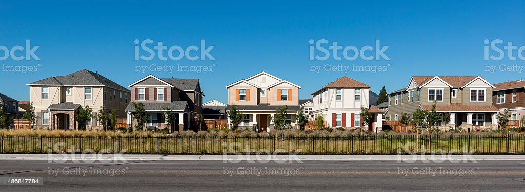 Row of Colorful Houses stock photo