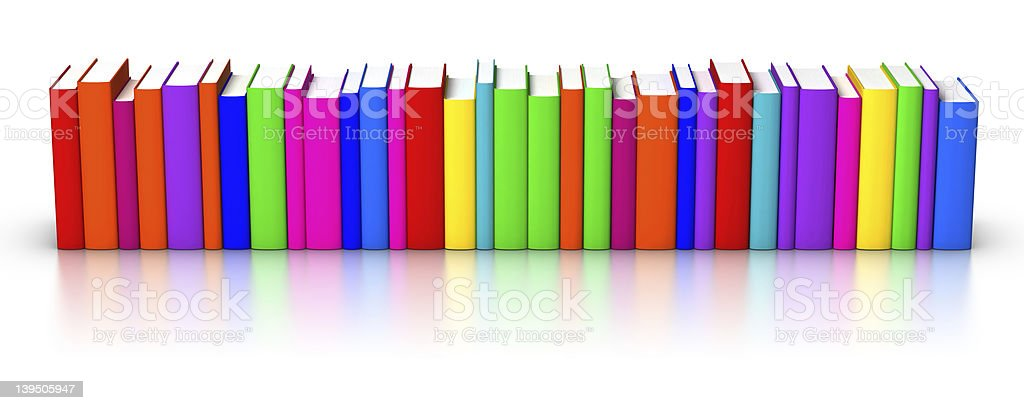 Row of Colourful Books royalty-free stock photo