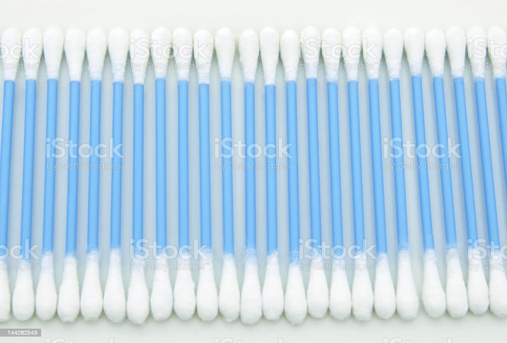 Row of cotton swabs royalty-free stock photo