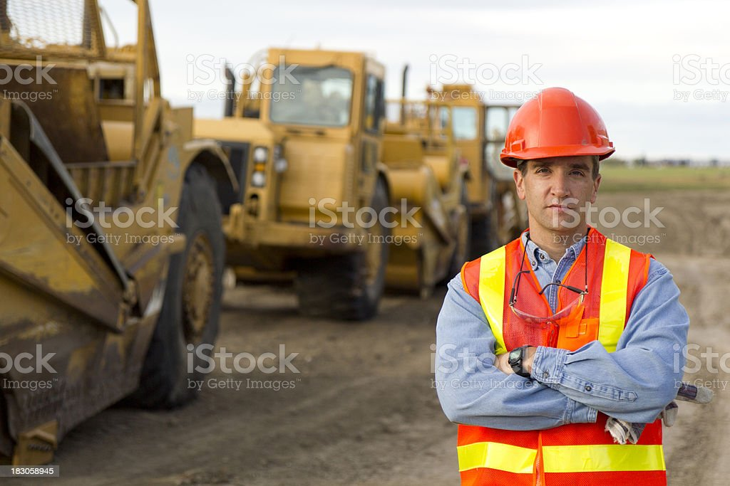 Row of Earth Movers royalty-free stock photo