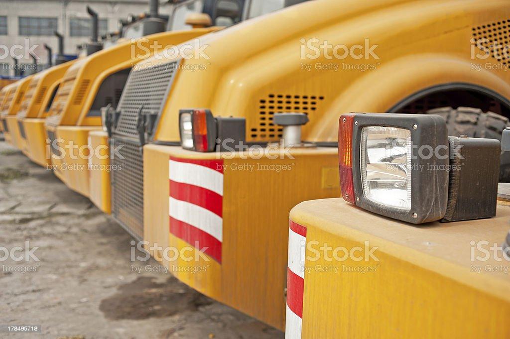 Row of Excavators royalty-free stock photo