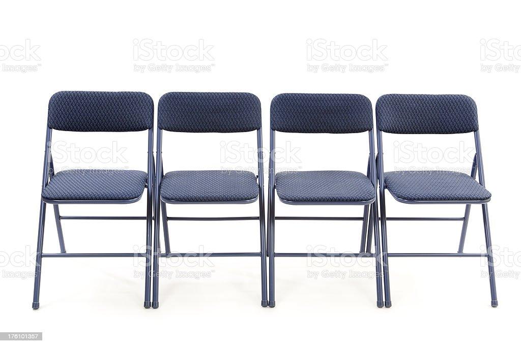 Row of Folding Chairs stock photo