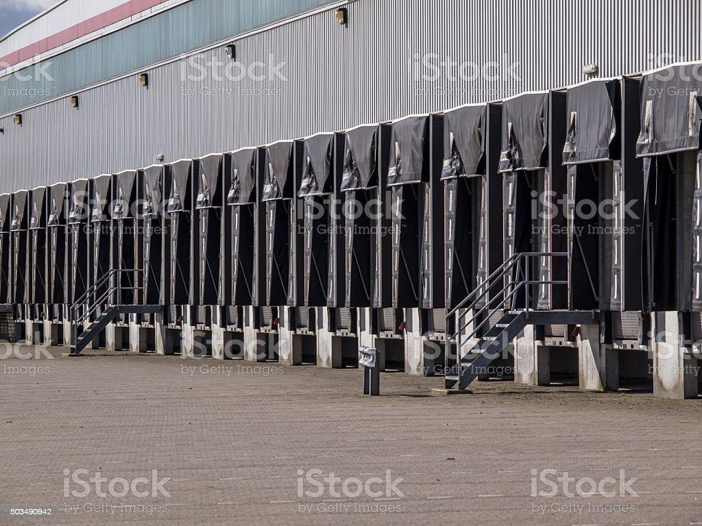 Row of Freight Docks stock photo