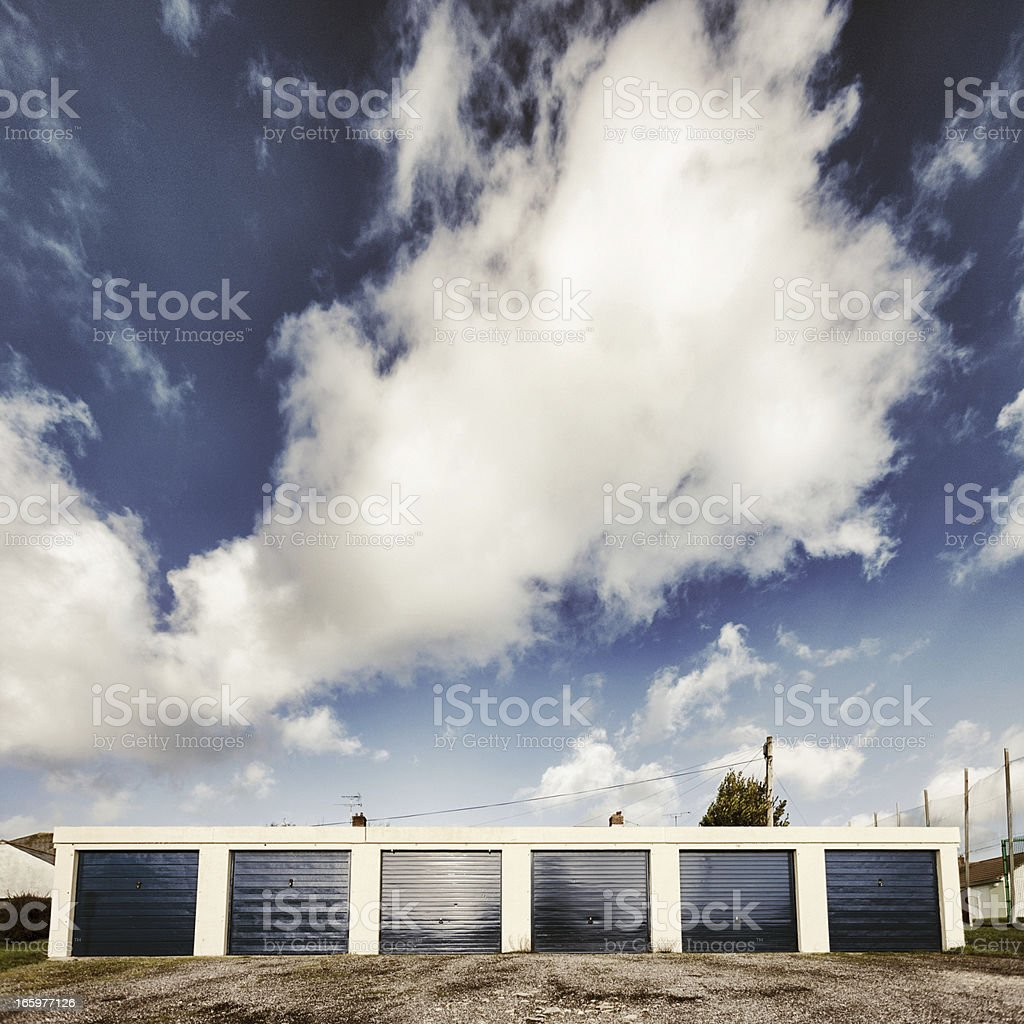 Row of garages royalty-free stock photo