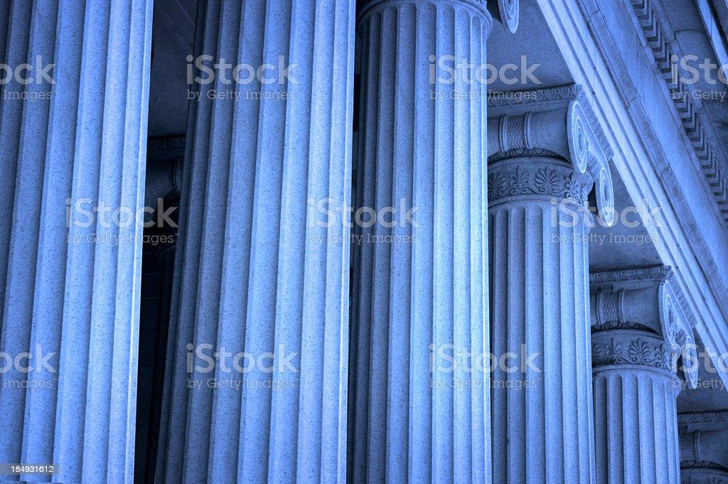 Row of Greek columns stock photo