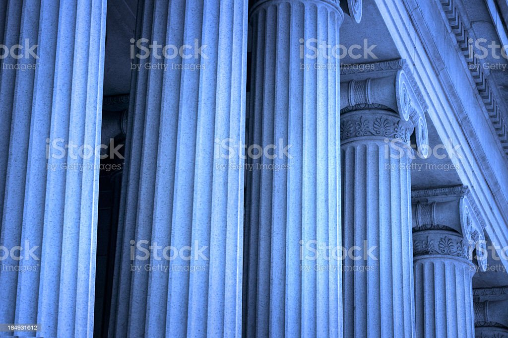 Row of Greek columns stock photo