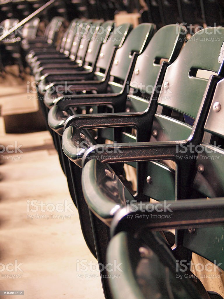 Row of Green Seats stock photo