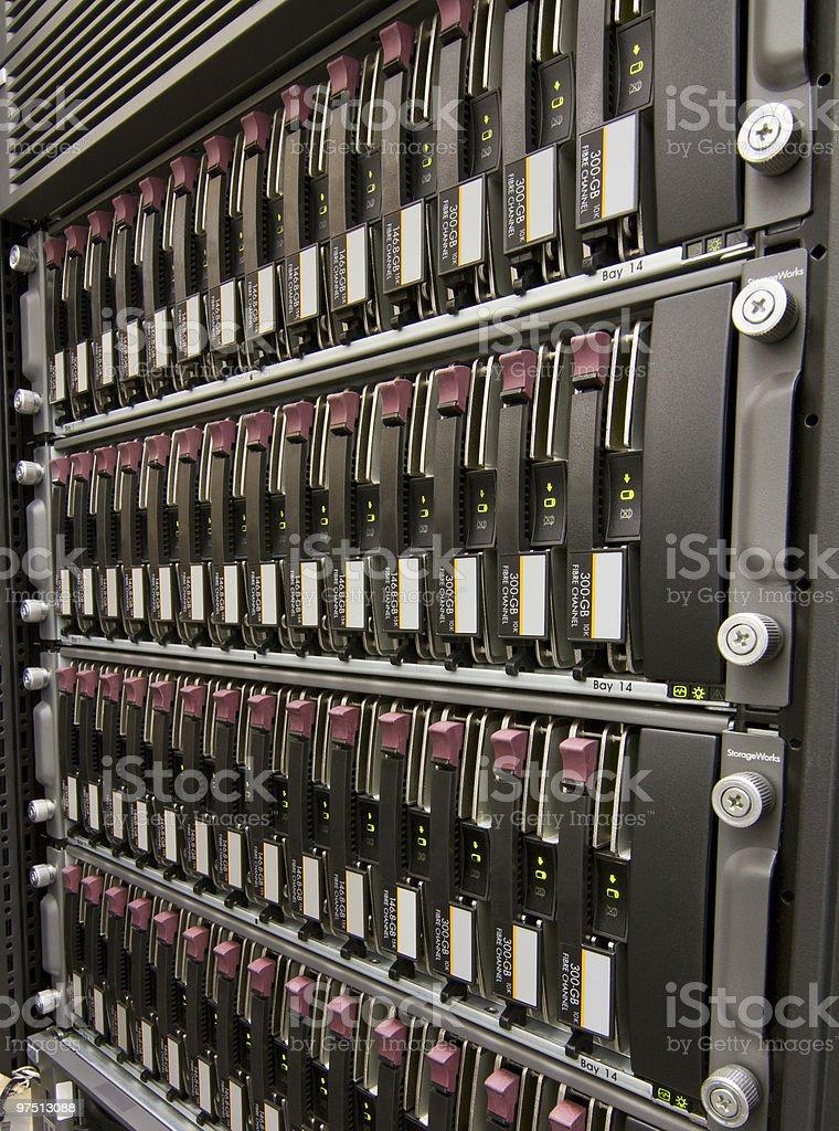 Row of hard drives royalty-free stock photo