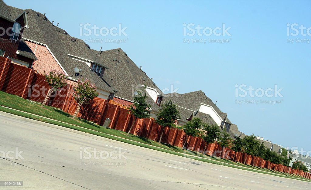 Row of Homes royalty-free stock photo