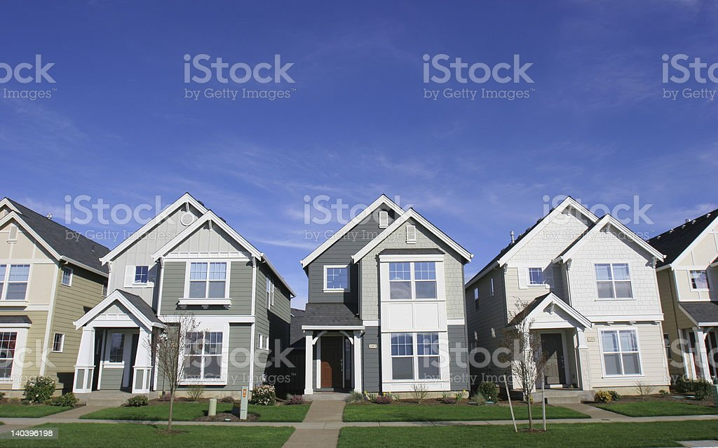 Row of Houses stock photo
