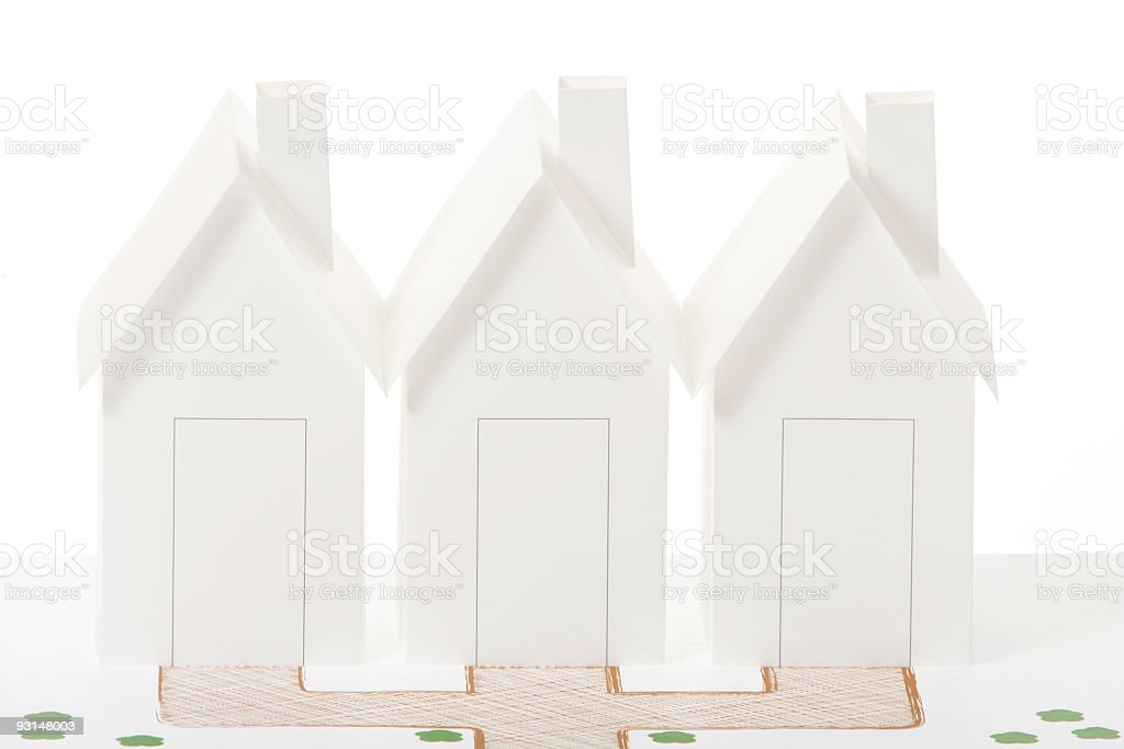 Row of houses royalty-free stock photo