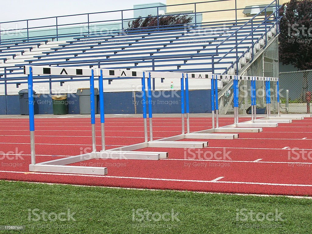 Row of Hurdles stock photo