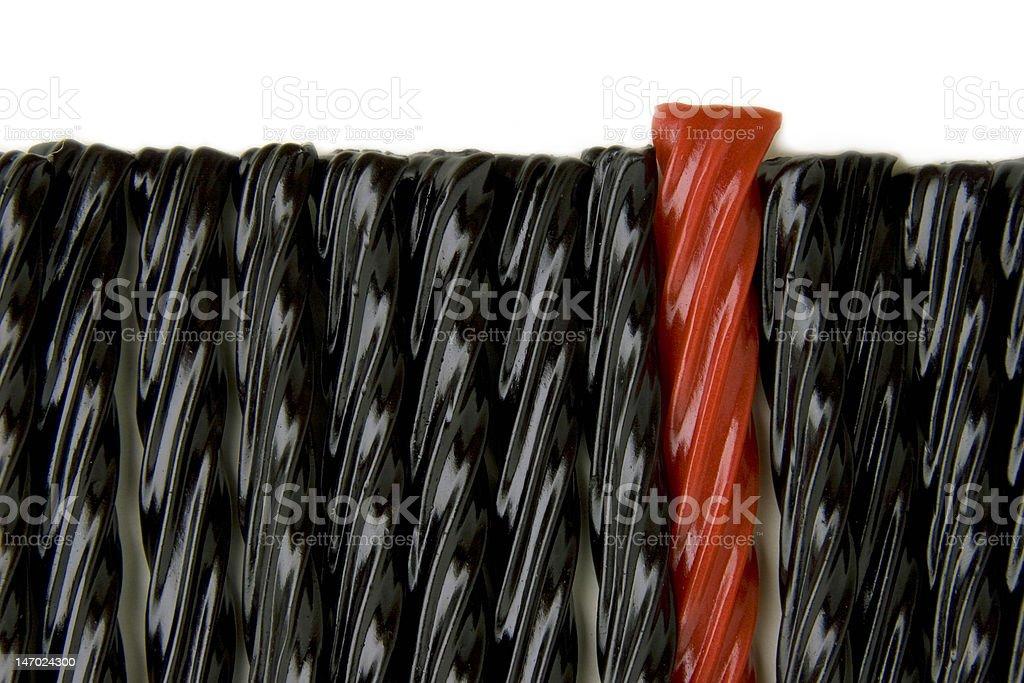 Row of Licorice stock photo