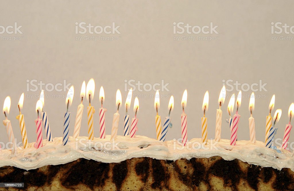 Row of lit candles royalty-free stock photo
