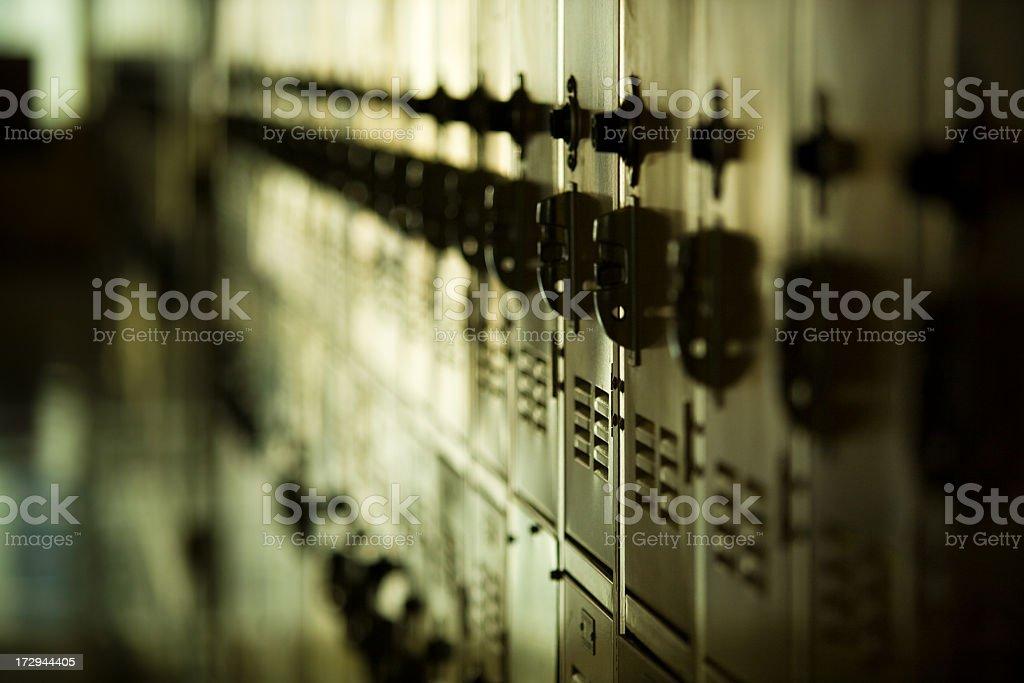 Row of Lockers stock photo