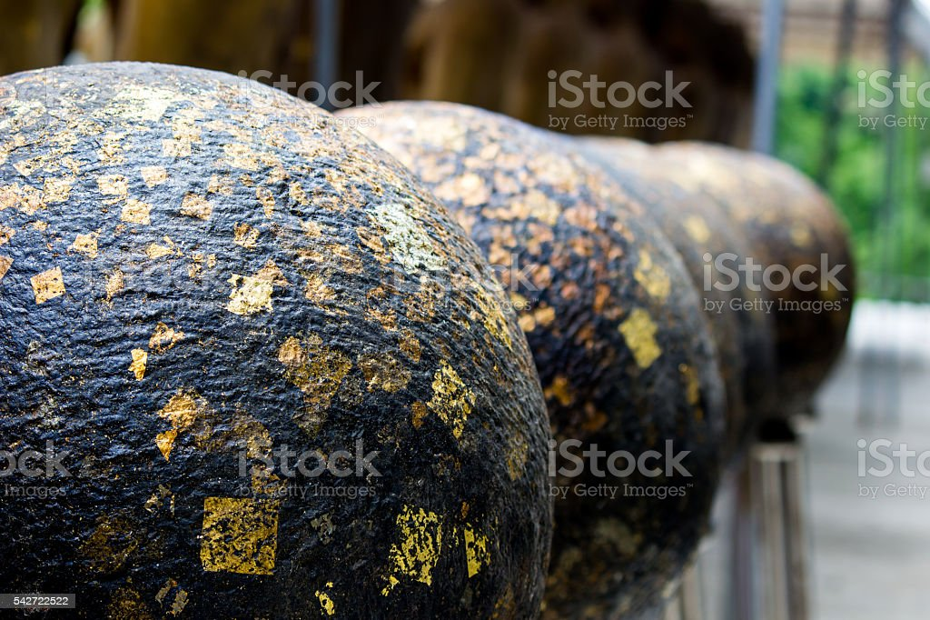 row of 'LUUK NIMIT' stock photo